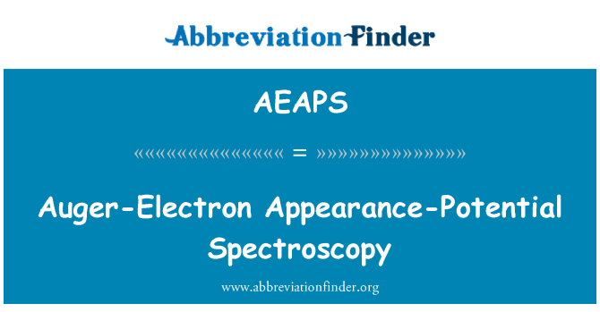 AEAPS: 俄歇电子谱外观潜力