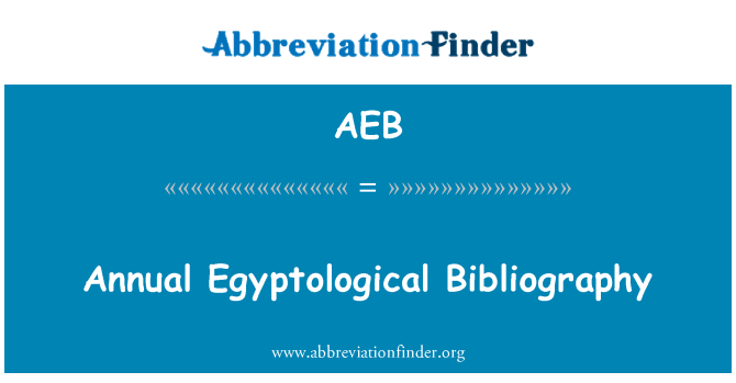 AEB: Annual Egyptological Bibliography