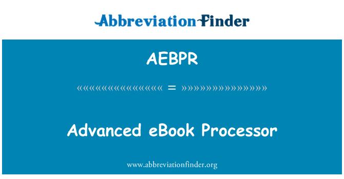 AEBPR: Advanced eBook Processor