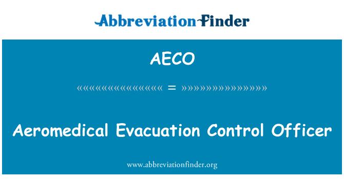 AECO: Aeromedical Evacuation Control Officer
