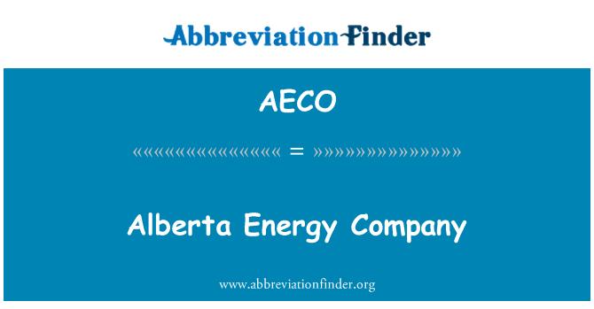 AECO: Alberta Energy Company
