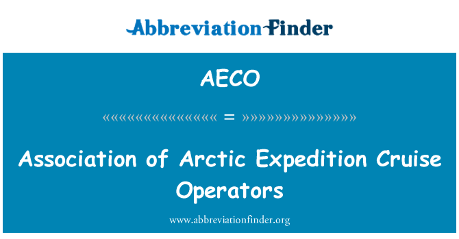 AECO: Association of Arctic Expedition Cruise Operators