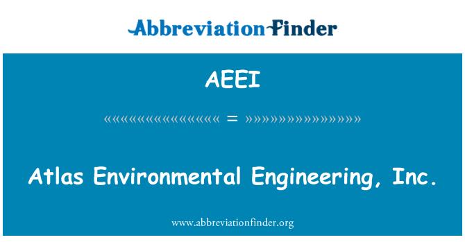 AEEI: Atlas Environmental Engineering, Inc.