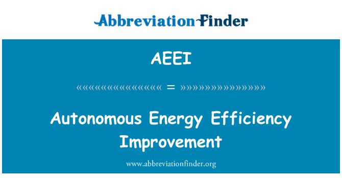 AEEI: Autonomous Energy Efficiency Improvement