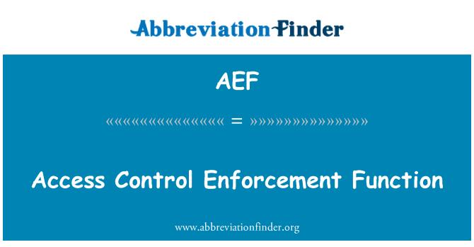 AEF: Access Control jõustamine funktsioon
