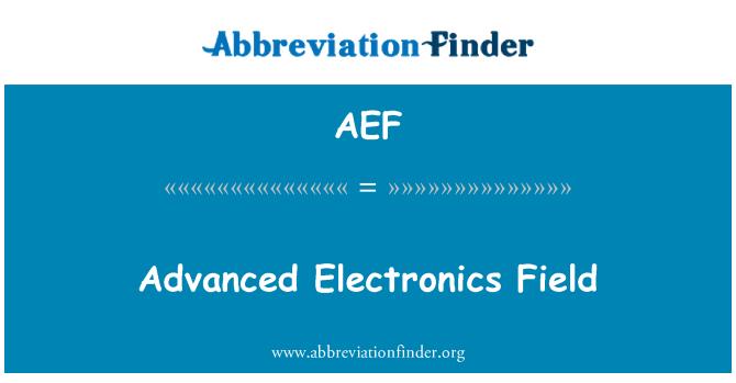 AEF: Täiustatud elektroonika valdkonnas