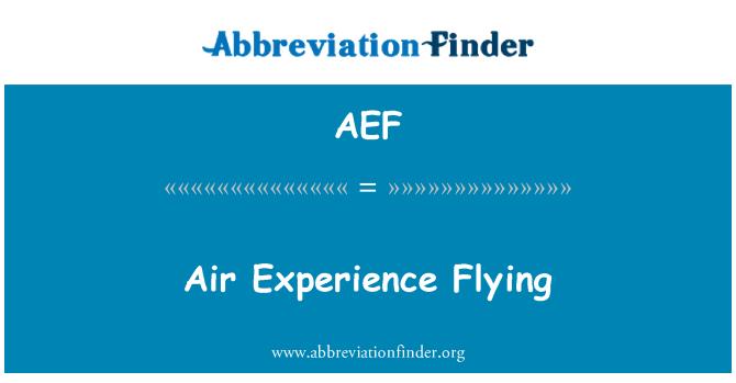 AEF: Õhu kogemus sõidab