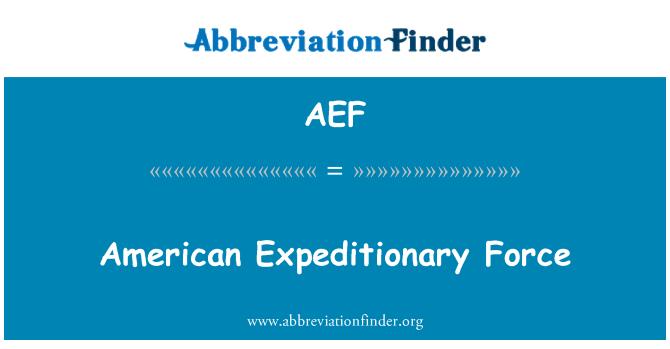 AEF: Ameerika ekspeditsiooni Force