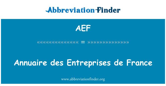AEF: Annuaire des Cri de France