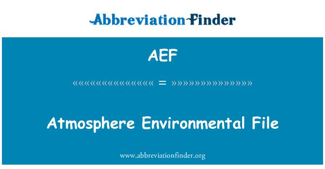 AEF: Atmosfääri keskkonna faili
