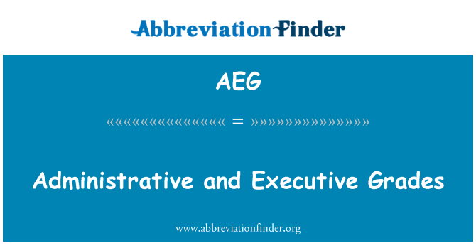 AEG: Administrative and Executive Grades