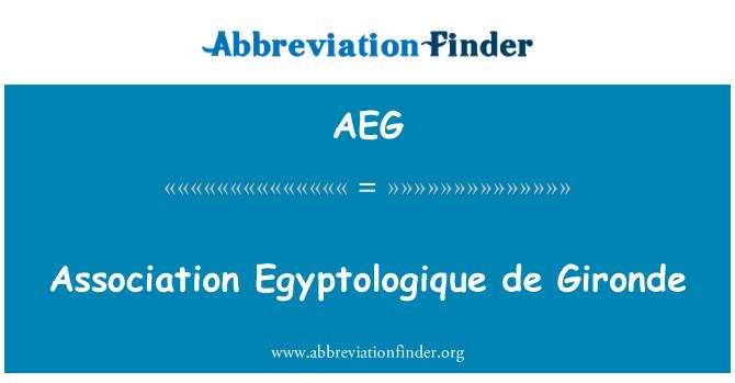 AEG: Association Egyptologique de Gironde