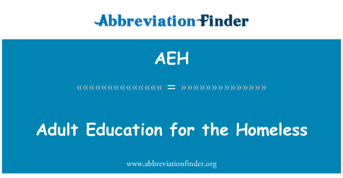 AEH: Adult Education for the Homeless