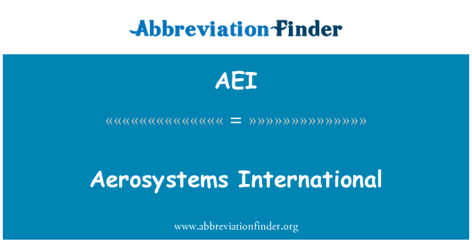 AEI: Aerosystems International