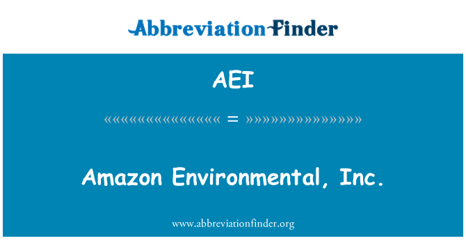 AEI: Amazon Environmental, Inc.