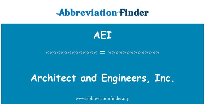 AEI: Architect and Engineers, Inc.