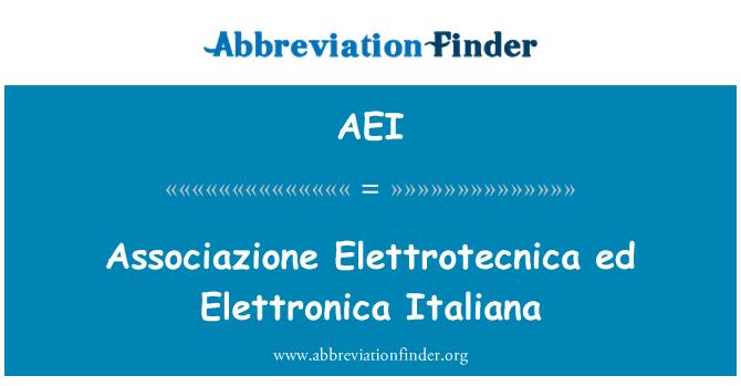 AEI: Associazione Elettrotecnica ed Elettronica Italiana
