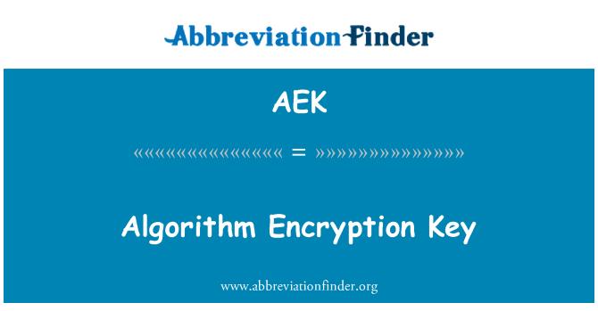 AEK: Algorithm Encryption Key