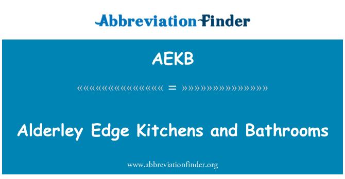 AEKB: Alderley Edge Kitchens and Bathrooms