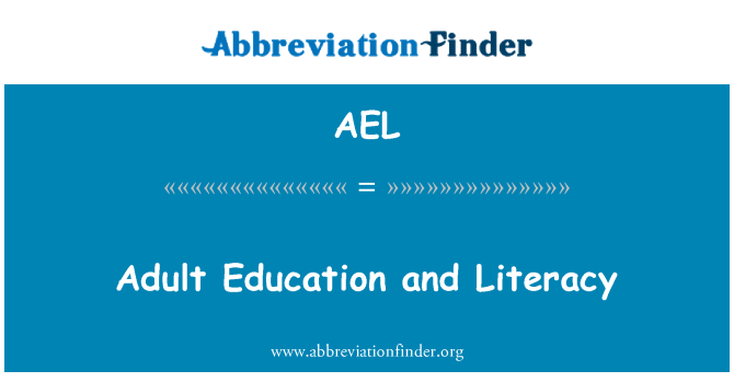 AEL: Adult Education and Literacy