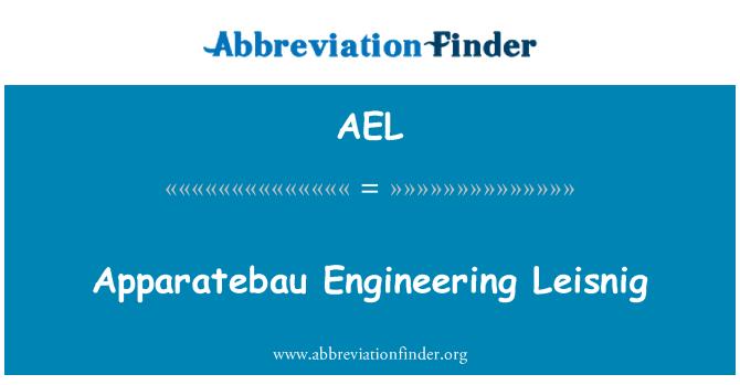 AEL: Apparatebau Engineering Leisnig
