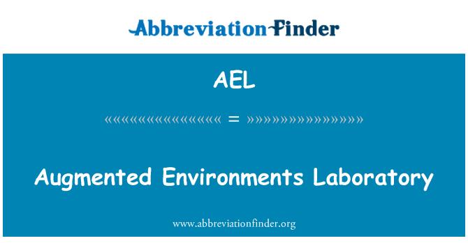 AEL: Augmented Environments Laboratory