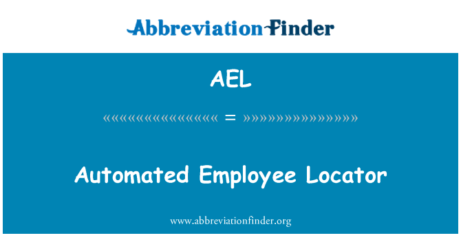AEL: Automated Employee Locator