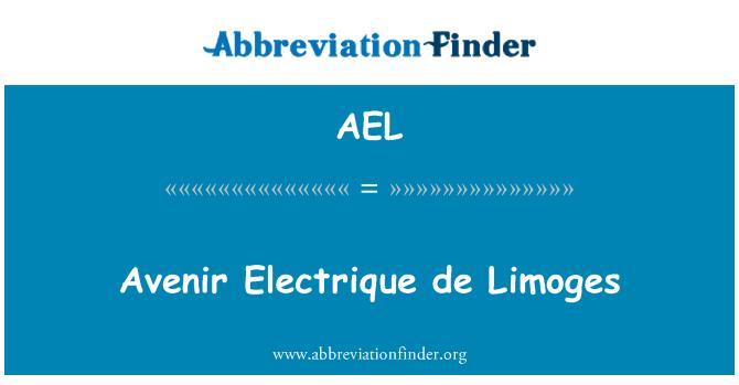 AEL: Avenir Electrique de Limoges