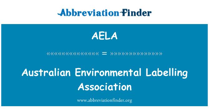 AELA: Asociación australiana de etiquetado ambiental