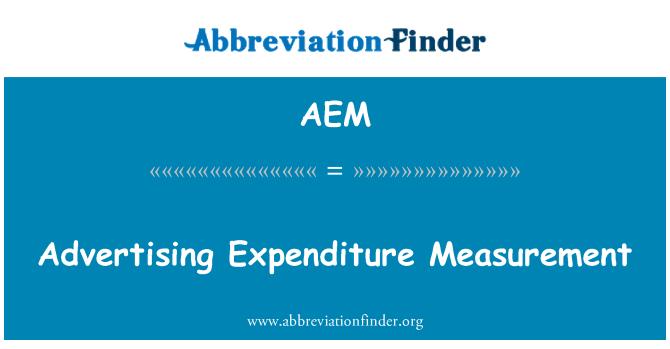 AEM: Medición de los gastos de publicidad