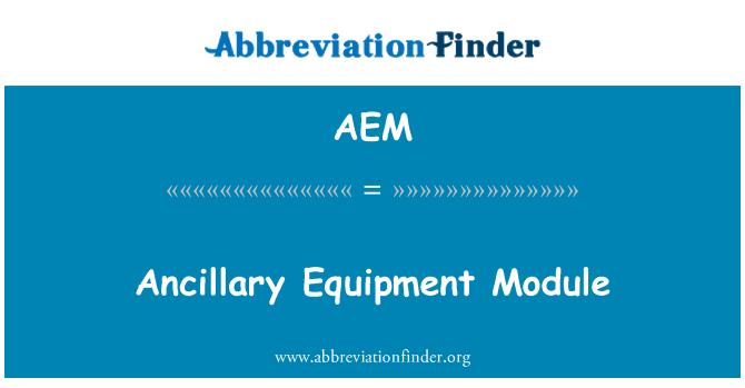 AEM: Módulo de equipos auxiliares