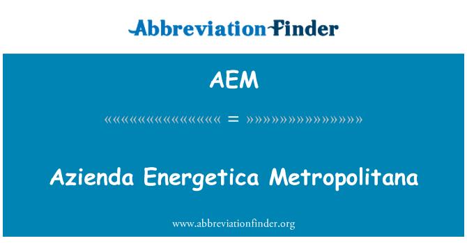 AEM: Azienda Energetica Metropolitana
