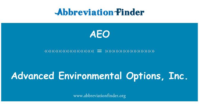 AEO: Advanced Environmental Options, Inc.