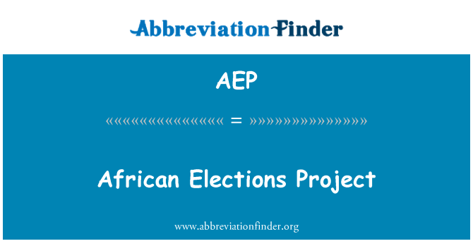 AEP: African Elections Project