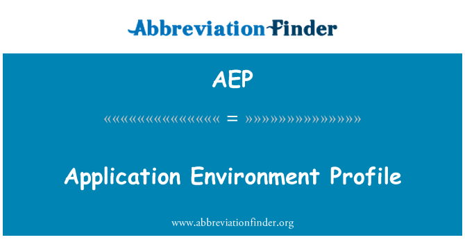 AEP: Application Environment Profile