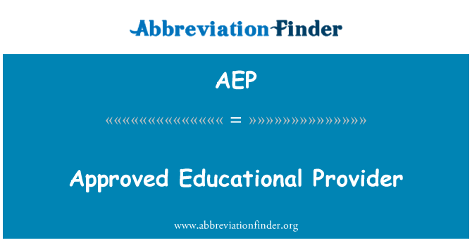 AEP: Approved Educational Provider