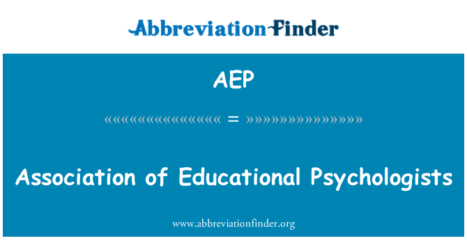 AEP: Association of Educational Psychologists