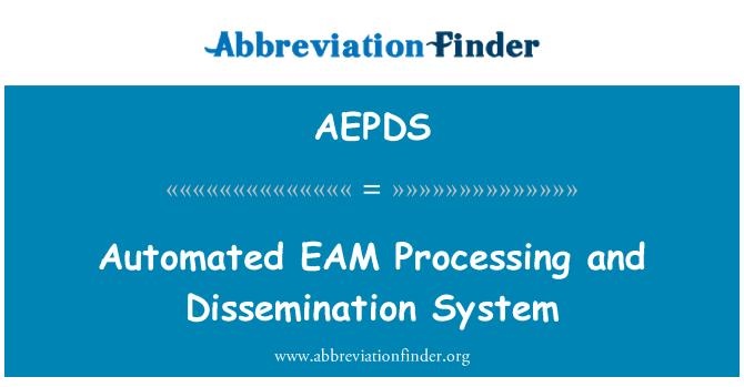 AEPDS: Procesamiento automatizado de la EAM y sistema de divulgación de
