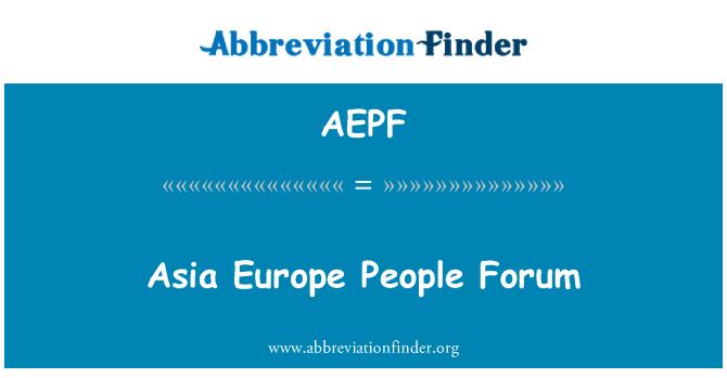 AEPF: Asia Europe People Forum