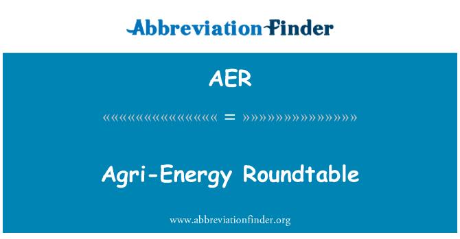 AER: Agri-Energy Roundtable
