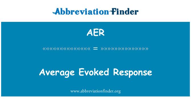AER: Average Evoked Response