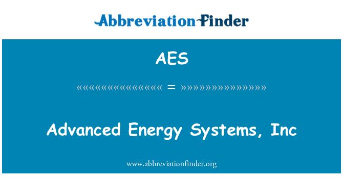 AES: Advanced Energy Systems, Inc