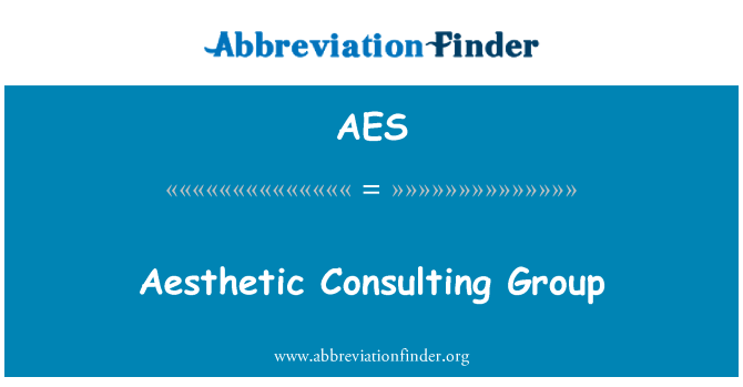 AES: Aesthetic Consulting Group