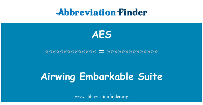 AES: Airwing Embarkable Suite