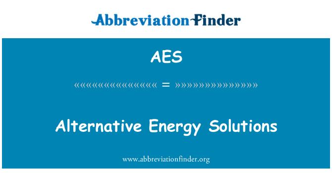 AES: Alternative Energy Solutions
