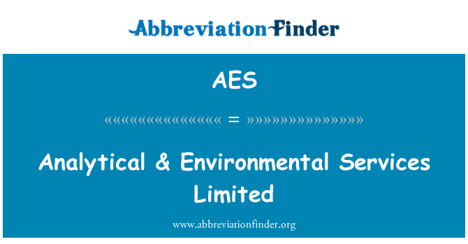 AES: Analytical & Environmental Services Limited