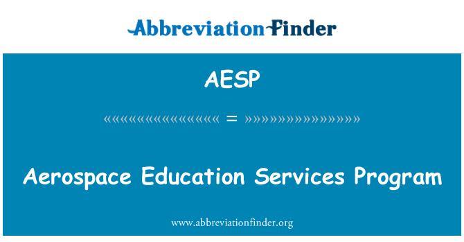 AESP: Programa de servicios de educación aeroespacial