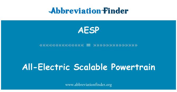 AESP: Todo-eléctrico Scalable Powertrain