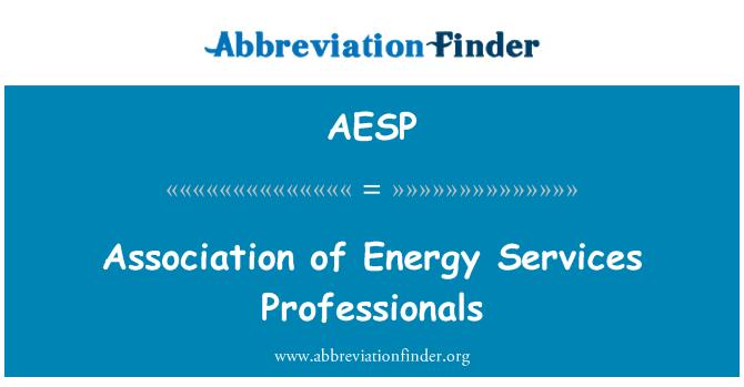 AESP: Asociación de profesionales de servicios de energía