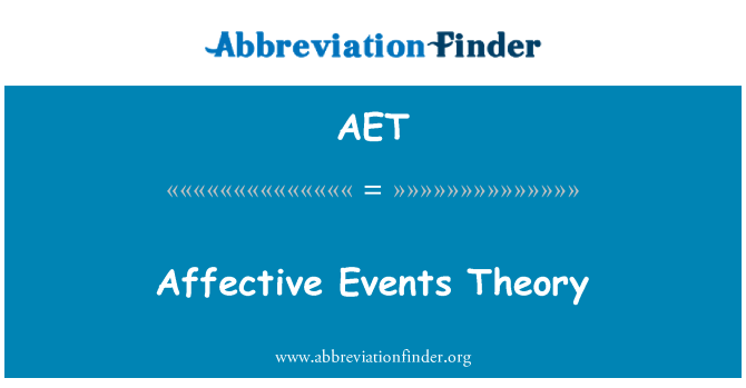 AET: Affective Events Theory